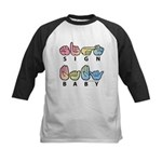 Captioned SIGN BABY SQ Kids Baseball Jersey