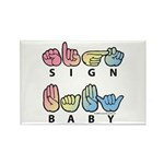 Captioned SIGN BABY SQ Rectangle Magnet