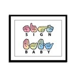Captioned SIGN BABY SQ Framed Panel Print