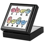 Captioned SIGN BABY SQ Keepsake Box