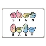 Captioned SIGN BABY SQ Banner
