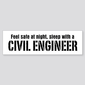 Feel Safe with a Civil Engineer Bumper Sticker