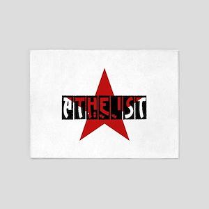 Atheist Star 5'x7'Area Rug