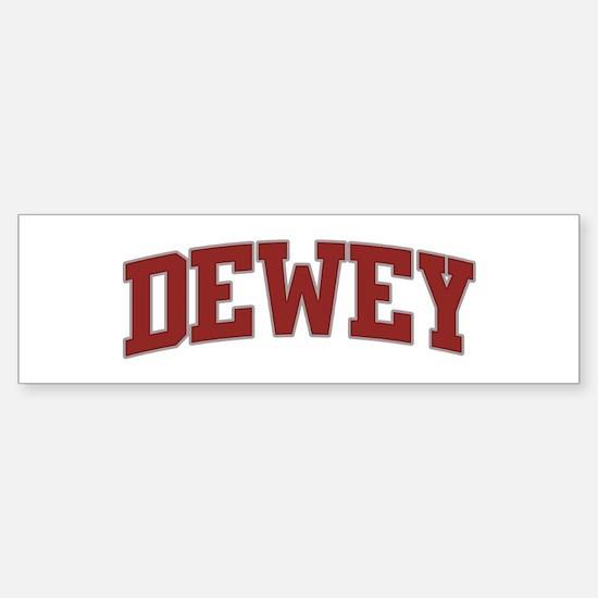 DEWEY Design Bumper Bumper Bumper Sticker