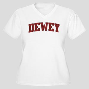 DEWEY Design Women's Plus Size V-Neck T-Shirt