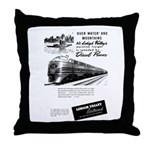 Lehigh Valley Railroad Throw Pillow