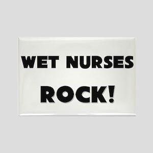 Wet Nurses ROCK Rectangle Magnet