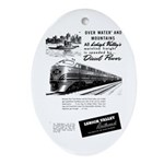 Lehigh Valley Railroad Oval Ornament