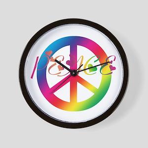 Peace Tie-Dye Wall Clock