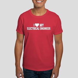 I Love My Electrical Engineer Dark T-Shirt