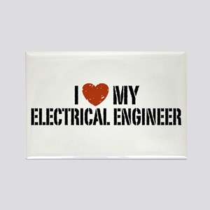 I Love My Electrical Engineer Rectangle Magnet