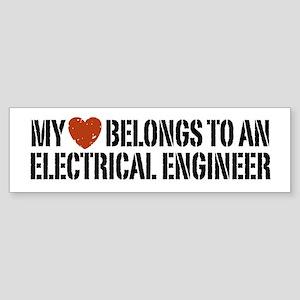 My Heart Belongs to an Electrical Engineer Sticker