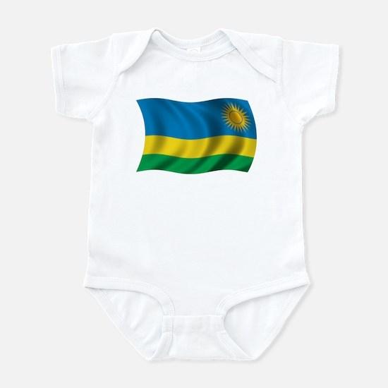 Wavy Rwanda Flag Infant Bodysuit