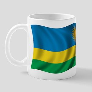 Wavy Rwanda Flag Mug