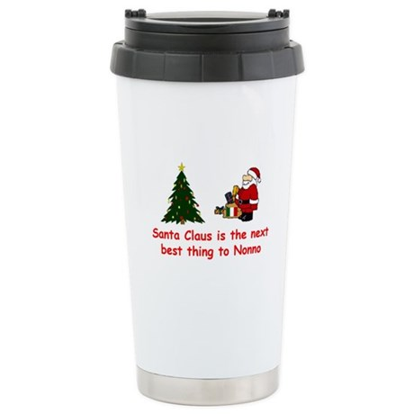 Santa Claus vs Nonno Stainless Steel Travel Mug