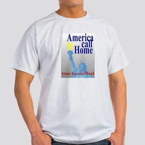 America Call Home Ash Grey T-Shirt