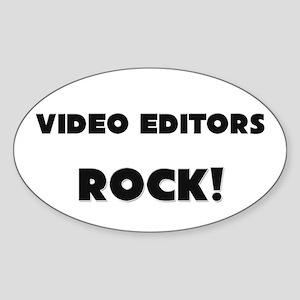 Video Editors ROCK Oval Sticker