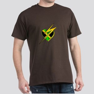Jamaica Lightning Bolt Dark T-Shirt