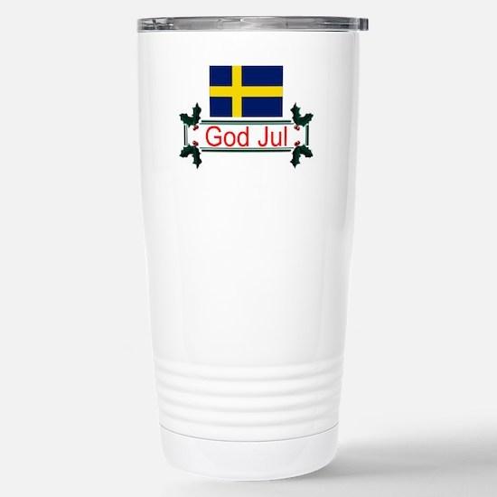 Swedish God Jul Stainless Steel Travel Mug