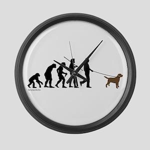 Chocolate Lab Evolution Large Wall Clock
