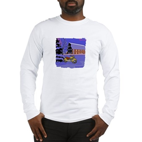 Scenic Motorcycle Christmas Long Sleeve T-Shirt