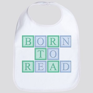 Born to Read Green Bib