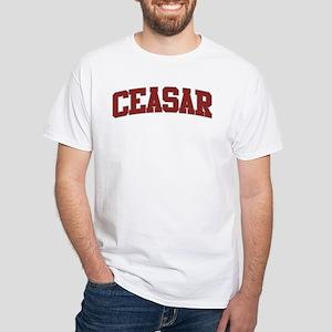 CEASAR Design White T-Shirt