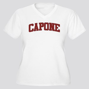 CAPONE Design Women's Plus Size V-Neck T-Shirt