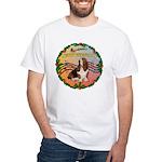 XmasMusic2MC/Basset Hound White T-Shirt