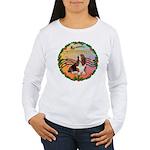 XmasMusic2MC/Basset Hound Women's Long Sleeve T-Sh