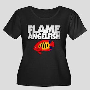Flame Angelfish Women's Plus Size Scoop Dark Tee