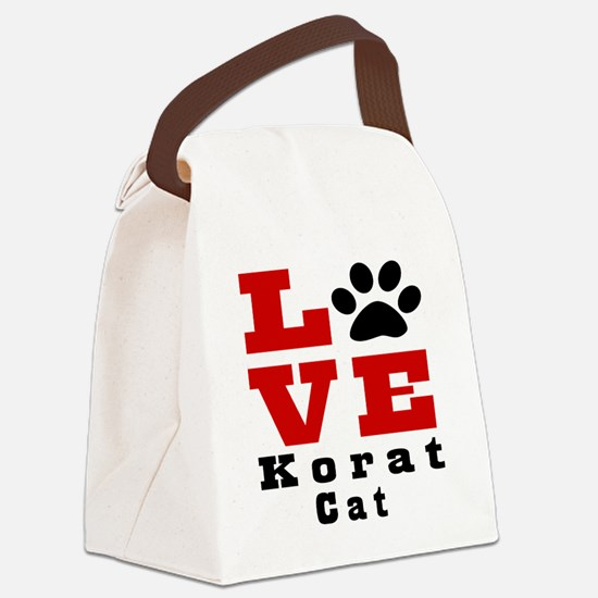 Love korat Cat Canvas Lunch Bag