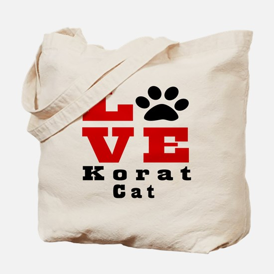 Love korat Cat Tote Bag
