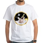Night Flight/ Pug White T-Shirt