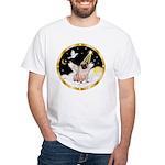Night Flight/ Pug White T-Shirt