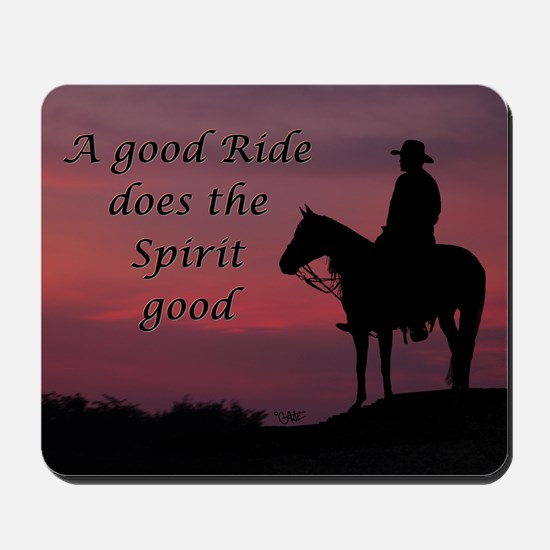 A good ride - Mousepad