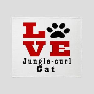 Love jungle-curl Cat Throw Blanket