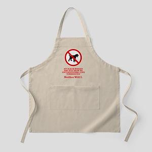 Black Russian Terrier BBQ Apron