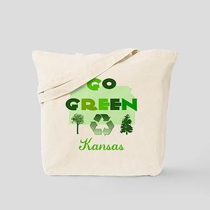 Go Green Kansas Reusable Tote Bag