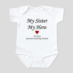 My Sister My Hero OEF Navy Infant Creeper