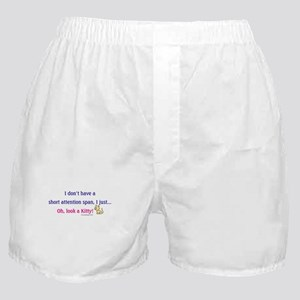 Short Attention Span Kitty Boxer Shorts