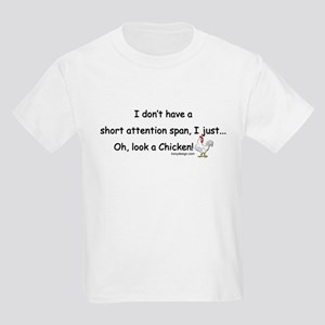 Short Attention Span Chicken Kids Light T-Shirt