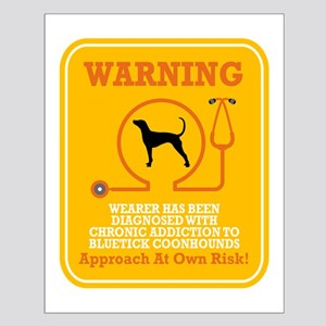 Bluetick Coonhound Small Poster