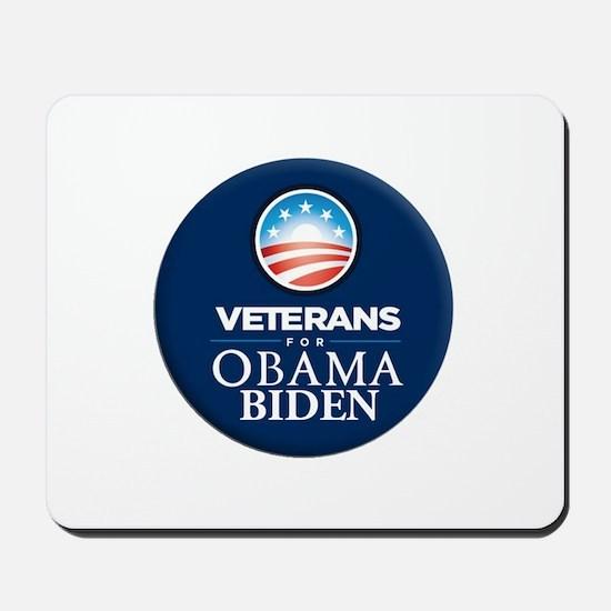 Obama Biden Veterans Mousepad
