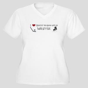 westie Women's Plus Size V-Neck T-Shirt