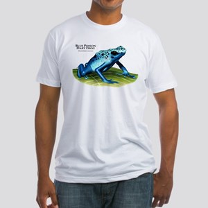 Blue Poison Dart Frog Fitted T-Shirt