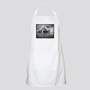 Pooped Golden Retriever Puppy BBQ Apron