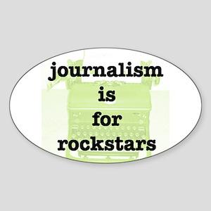 Journo Rock Oval Sticker