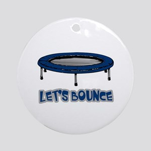 Let's Bounce Trampoline Ornament (Round)
