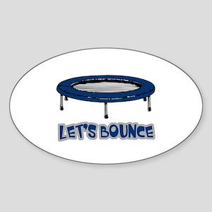 Let's Bounce Trampoline Oval Sticker